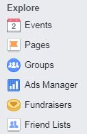 Facebook Explore Friend List