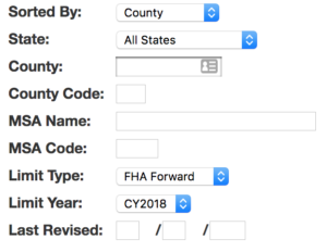 fha loan limits lookup tool